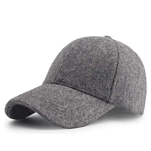 - WEEKEND SHOP Snapback hat Winter Wool Cap Men Baseball Cap Vintage Russia Hats for Men Thick Dad Hat Baseball Sport Brand Man Caps Z-6585 Light Gray