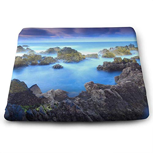 (Mastexoru Seat Cushion Stain Resistant Removable Cover/Square Floor Pads-Porto Moniz(15