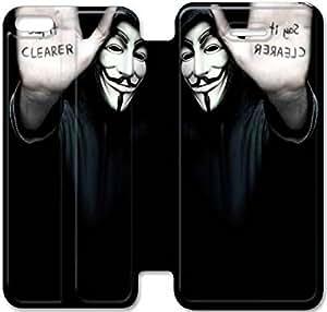 iPhone 5c funda, Flip funda para iPhone 5c, [Anónimo ARMAS] de primera calidad Flip PU ??cuero funda para iPhone 5c [DDUIPH3461617]