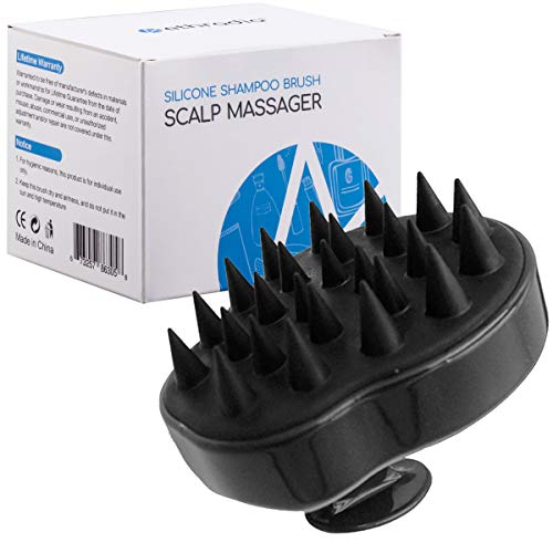 🥇 Cepillo de champú Siliscrub para champú y masajeador de cuero cabelludo