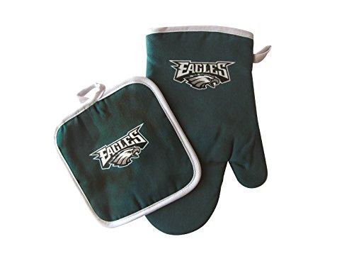 Set Philadelphia Nfl Eagles (NFL Philadelphia Eagles Logo Oven Mitt & Pot Holder, One Size, Green)