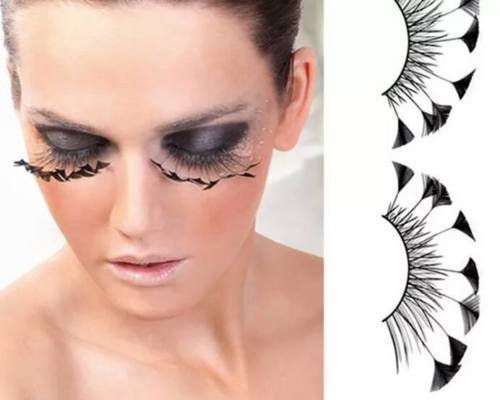 Dorisue Halloween eyelashes Spider eyelashes Firework Feather eyelashes Custom Cosplay Dramatic Extra Long lashes for Party -