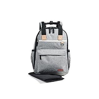 Skip Hop Women's Duo Diaper Backpack, Grey Melange, One Size