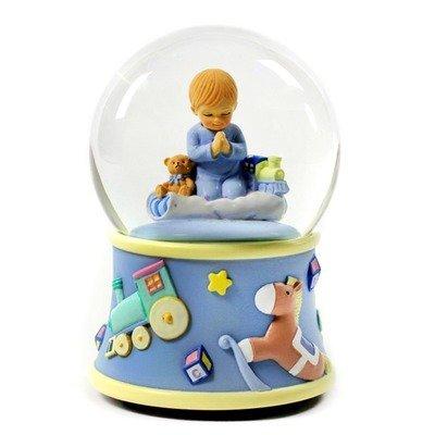 Bedtime Prayers Boy Rotating Water (Praying Girl Snow Globe)
