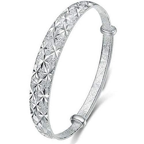 FAVOT New Classic Starry Design Silver Bracelet Women's Fashion Metal-Adjustable Diameter Chain Bracelet (Silver)