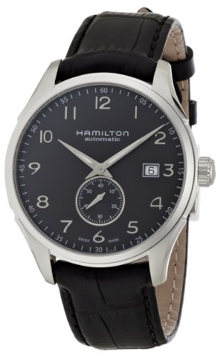 Hamilton Men's 'Jazzmaster' Swiss Automatic Stainless Steel and Leather Casual Watch, Color:Black (Model: H42515735) by Hamilton
