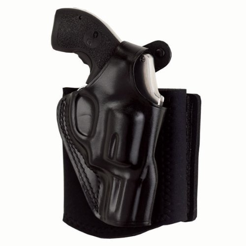 Galco Ankle Glove/Ankle Holster for Glock 26, 27, 33 (Black, Right-Hand)