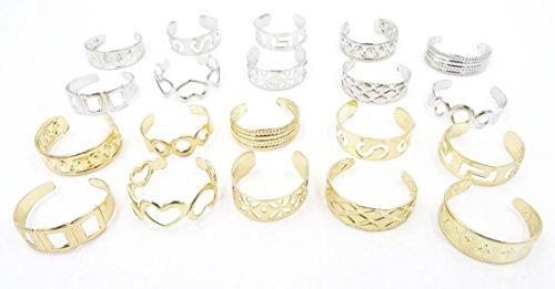 Gold Set Toe Ring - 5