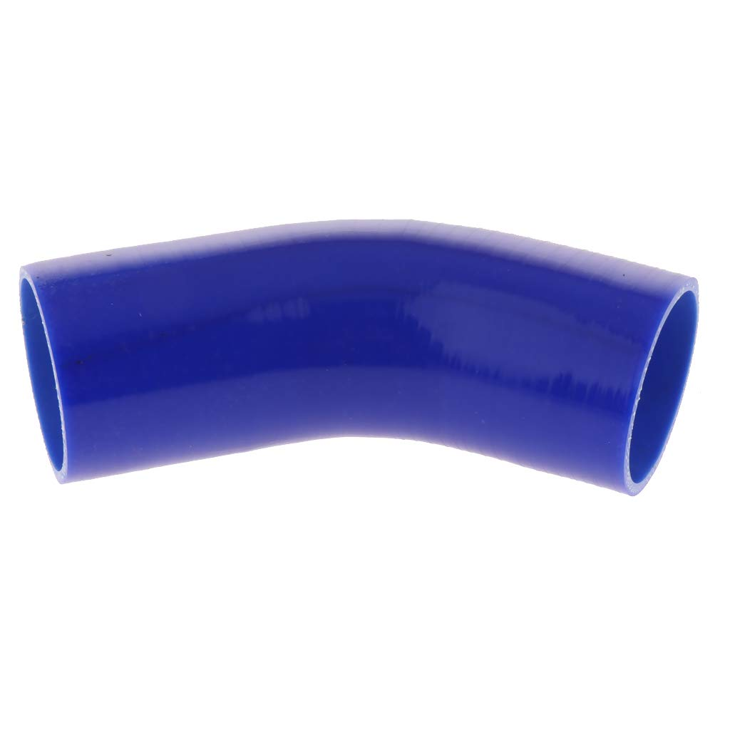 B Blesiya 2Pieces 45 Degree 4-Ply High Performance Elbow Coupler Silicone Hose for Auto Car 2.5inch//63mm Blue
