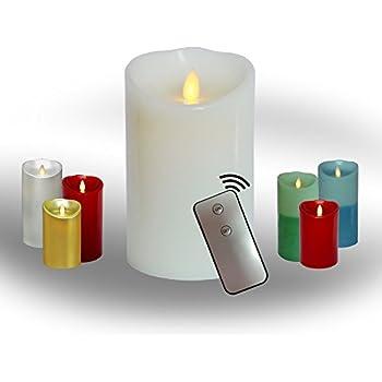 Amazon.com: AEON Moving Wick Flameless Real Wax Pillar