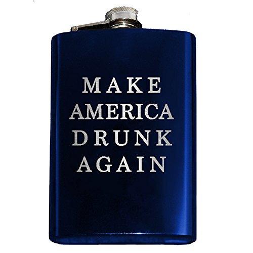 【ご予約品】 アメリカを再びDrunk Engraved Engraved 8オンスステンレススチールヒップフラスコ 8oz ブルー ブルー ブルー B06X9RDG79 B06X9RDG79, Rakuten BRAND AVENUE:9af3578d --- a0267596.xsph.ru