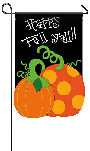 Evergreen Applique Happy Fall Y'all Garden Flag, 12.5 x 18 i
