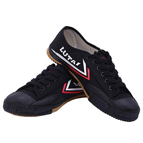 Acorssage Men Women Kungfu Canvas Shoes Training Breathable Sneakers Non-Slip Black Shoes