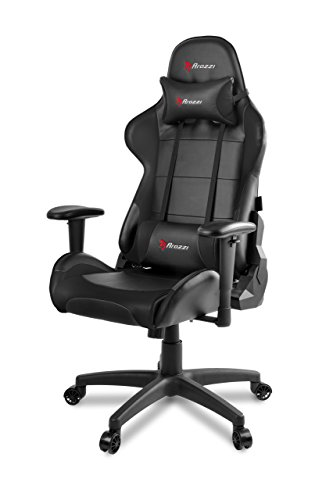 Arozzi Verona V2 Advanced Racing Style Gaming Chair with High Backrest, Recliner, Swivel, Tilt, Rocker and Seat Height Adjustment, Lumbar and Headrest Pillows Included, Black