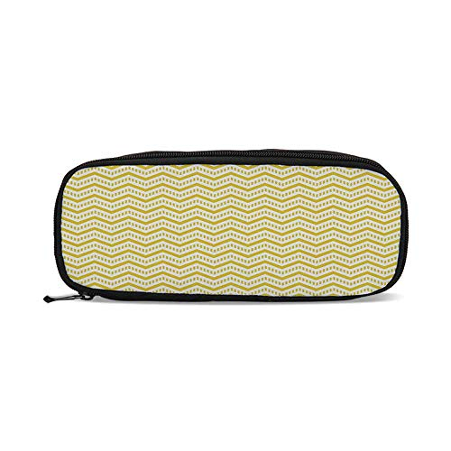 (Yellow Decor,Chevron Abstract Zig Zag Pattern Striped Cool Geometric 90s Style Art,9.4