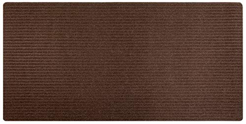 Stair Treads Collection Indoor Skid Slip Resistant Carpet Stair Tread Treads Runner Mat (Brown, 30 in x 60 in Runner Matching Mat) (Inch 30 Runner)