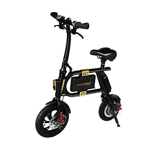 Lightweight Bicycle Electric Folding Bike Lithium Li-ion Battery (Black)