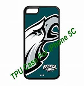 Designed iPhone 5C Hard Cases Philadelphia Eagles team logo great for Christmas gifts by hiphonecases