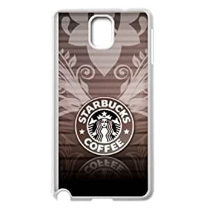 Popular And Durable Designed TPU Case with Starbucks Starbucks Samsung Galaxy Note 3 Cell Phone Case White