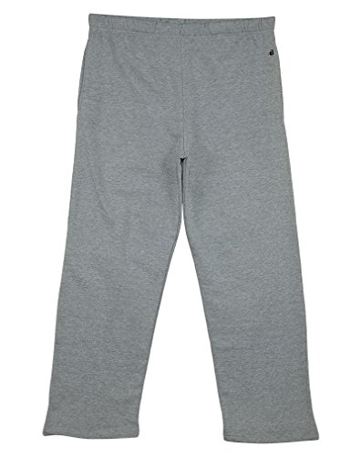 (Badger Sport Drawcord Heavy Weight Fleece Sweatpants Mens Style: 1377-OXFORD Grey Size:)