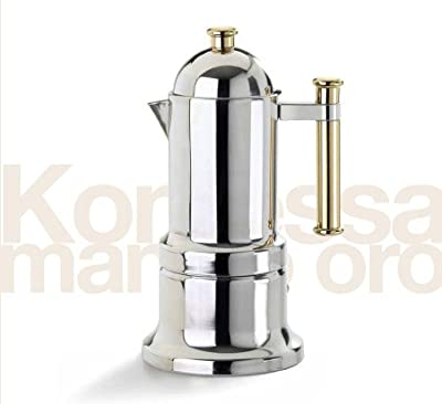 Vev Vigano Stovetop Espresso Maker - Vev Vigano Kontessa Gold 6 cup size from M&T Distributors