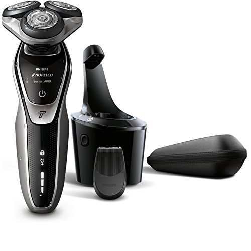 Norelco Part Cool Skin - Philips Norelco Electric Shaver 5700 Wet & Dry, S5370/84, with Turbomode and SmartClean