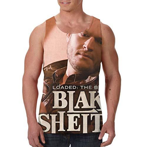 CarterH Blake Shelton Loaded The Best of Blake Shelton Men's Gym Waistcoat Tank Top Shirts L Black -
