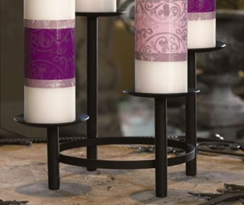 Advent Pillar Tier Holder W/Di by Faithful Gifts (Image #1)