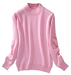 Women S Classic Crew Neck Knit Pullover Cashmere Sweater Knitwear Jumper Pink Us S 4 Tag M