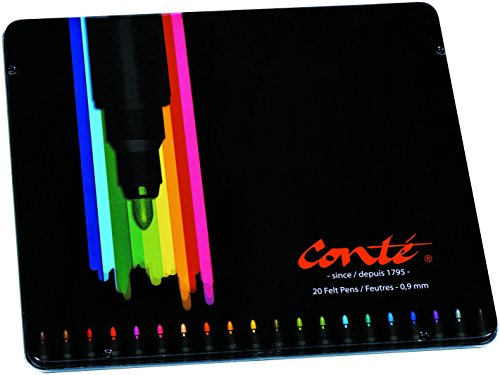 Conte Feutres de Coloriage Boîte Métal de 20