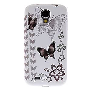 CECT STOCK Mariposas Negro-y-Blanco Caso duro del patrón para Samsung Galaxy S4 Mini I9190