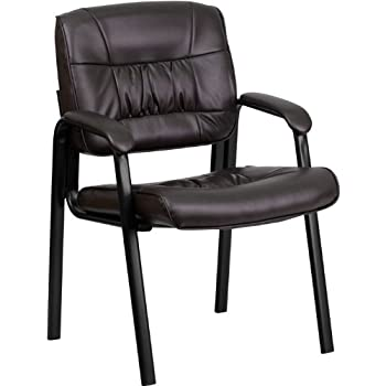 office reception chairs leather. flash furniture brown leather executive side reception chair with black frame finish office chairs e