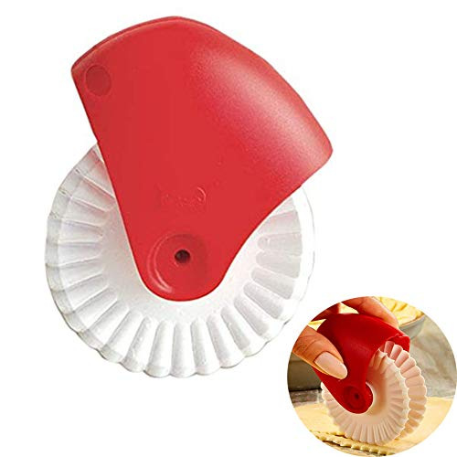 - Allupup Pastry Wheel Cutter, Beautiful Lattice Pie Crust or Ravioli Pasta, Easy to Use, Easy to Clean (F)