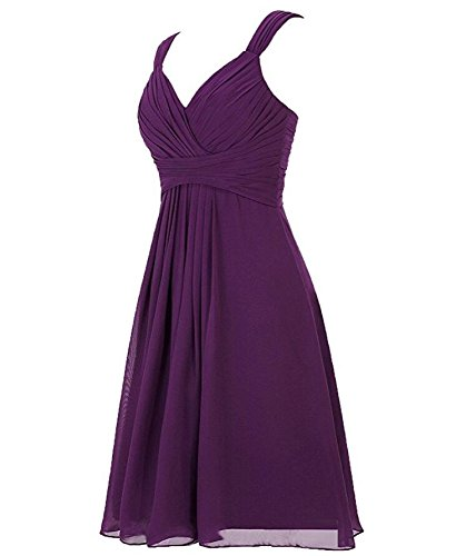 Dresses Gown V Up Bridesmaid Botong Short Sleevesless Lavender Neck Back Lace Chiffon Prom xIqdAwCP
