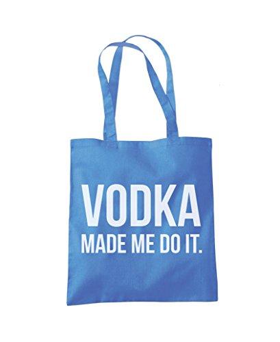 Me Made Shopper Do Vodka Fashion Bag Tote It Blue Cornflower UvHxqw