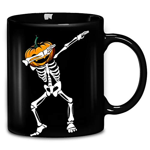 Halloween - Dabbing - Skull Coffee Mug 11oz & 15oz Caremic Tea Cups -