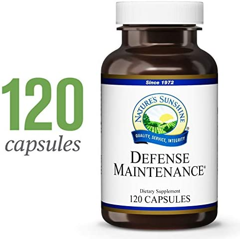 Nature s Sunshine Defense Maintenance, 120 Capsules Provides Nutritional Support to The Immune System, Contains Antioxidants and Cruciferous Vegetables, and Provides Vitamins A, C and E