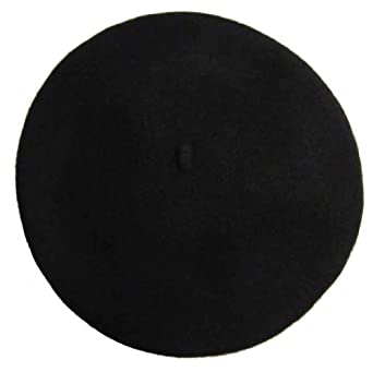 Vieux Carre Traditional French Wool Beret Black at Amazon Women's