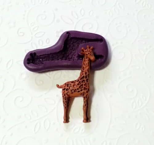 Silicone Mold Giraffe Animal Mould (44mm) Fondant Chocolate Clay Cake Topper