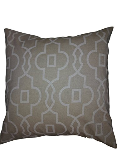 Euro pillow Beige Linen and ecru off white trellis Pillow Cover. large bed Throw Pillows, Moroccan pattern Toss Pillows. square Cushion. Bed dorm. Pillow Cover. Pillow Sham 26