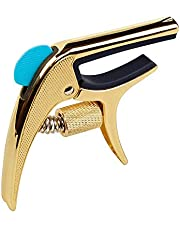 Guitar Capo,SUNYIN Adjustable Pressure Acoustic Guitar Capo with Picks Card Slot Solid And Durable No Buzz and No Harm To Guitar Neck ¡