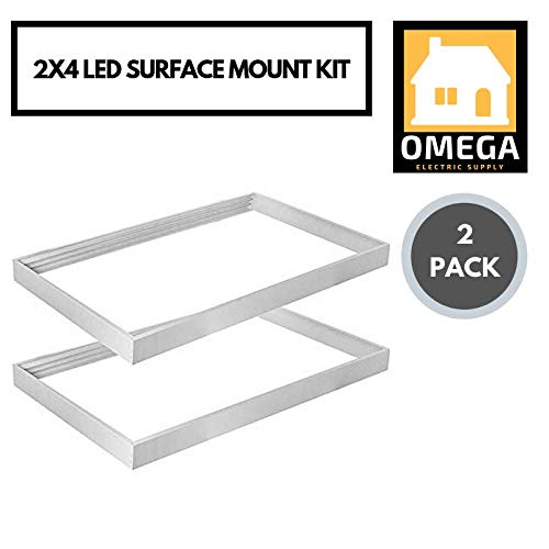 Omega | (2 Pack) 2X4 LED Surface Mount Ceiling Kit