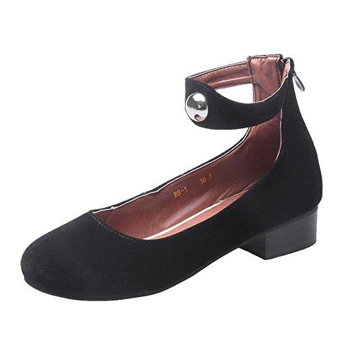 Draagarm Dames Enkelbandje Zip Retro Cosplay Mode Mary Janes Schoenen Zwart