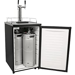 EdgeStar Full Size Dual Tap Kegerator & Draft Beer Dispenser - Black