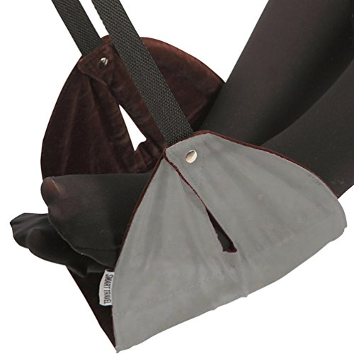 SmartTravel Portable Travel Footrest for Airplane (Premium Grey)