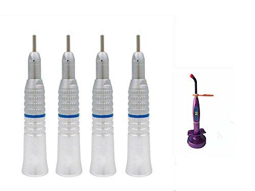(SoHome 4Pcs Low Speed Straight Hand Kit Latch Bur + 1Pcs 5W LED Light Purple)