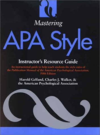 mastering apa style instructor s resource guide 9781557988904 rh amazon com APA Style Paper ap style guide amazon