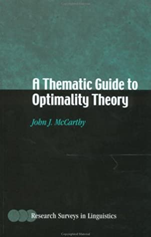 amazon com a thematic guide to optimality theory research surveys rh amazon com Short Popular Non Fiction Books Amazon Best Books of 2013 Book