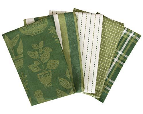 Ritz 80430 Kitchen Towel, 5-Pack, Oil & Vinegar - Cactus