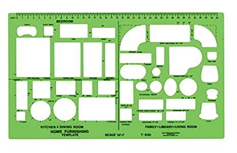 Amazon.com : Westcott Technical Drawing Template (T-830) : Drafting ...